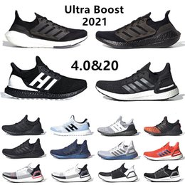esportes tecnologia Desconto Cloud White Ultra boost 2019 Ultraboost Mens Running shoes Clear Refract Oreo Primeknit 5.0 Dark Pixel Active orange sports trainer men women sneakers