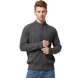Cabo de malha homens xl camisola on-line-Camisolas 16STC8038 homens Cable Knit Cashmere Sweater Turtleneck