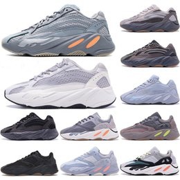 style kanye west Promotion Kanye west  700 V2 running shoes yeezy 700 V2 chaussures de course V2 Nouveau style Vanta 700 V3 Alva Azaël Blue Mist Oat baskets sport mens Alien 36-45