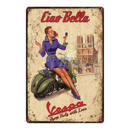 Carteles de chapa de musica online-Classic Motorcycle Tin Signs Shabby Chic Retro Home Wall Music Bar Art Garage Decor Poster Poster Cuadros du-3034 Q0331