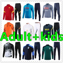 Fatos de futebol para crianças on-line-mens soccer tracksuit chandal futbol survetement foot jerseys 2021 kids Trainers Adult football jersey training wear jacket
