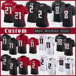 Pullover falconi online-8 Kyle Pitts 7 Michael Vick Men Donne Bambini Custom Football Jerseys 18 Ridley 21 Todd Gurley II Deion Sanders 2 Matt Ryan 11 Julio Jones Atlanta