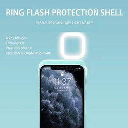 Smart lights apple on-line-Moda Apple 12 Mobile Phone Case Smart Ring Flashing Light Selfie Artefato LED LED Luz quente Beleza Luz de Beleza