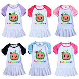 T-shirt lait en Ligne-Cocomelon Design Sleep Wear Summer Toddler Girls Robes Dessin animé Girl Vêtements Vêtements Boutique T-shirt T-shirt T-shirt T-shirt T-shirt T-shirt Robe d'anniversaire Design Costume G49N657