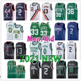 2021 maglia di uccelli Los Leonard Angeles Basket Clipper Jersey Boston