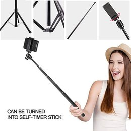 Легкие комплекты подставок онлайн-Live Treating Makeup Selfie Stick Monopod State Stand Ring Light Vlog Kits Monopods