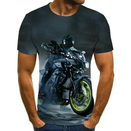 hommes t shirts graphiques 3d Promotion 2021 Moto Graphic Soccer Jerseys Punk Wind Tops 3D Racer Mens T-shirt Summer Mode O-Cold Shirt Plus Taille Streetwearsoccer Jersey