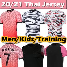 fußball jersey fertigen besonders an Rabatt 2020 South Soccer Trikots Korea Sohn Süd 20 21 Korea Home Away Black Hyung Kim Lee Kim Ho Sohn Jersey Benutzerdefinierte Männer Kinder Training Football Hemden