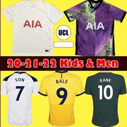 2021 kit football éperons Hommes Kids Kit 20 21 22 Dele Son Tottenham Bale Kane Jersey Soccer Hojbjerg Bergwijn Lo Celso Spurs 2021 2022 Lucas Football Shirts Uniformes