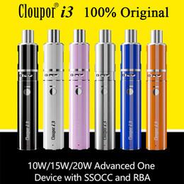 Wholesale I3 Wholesale - 100% Original Cloupor i3 Kit Vaporizer Kit E Cigarette Kits VW Mini Vape Mods OCC RBA Coil Electronic Cigarettes Free Shipping