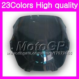 Wholesale 98 Honda F3 - 23Colors Windscreen For HONDA CBR600F3 CBR 600 CBR600 F3 97 98 CBR600RR CBR 600 F3 1997 1998 Chrome Black GPear Smoke Windshield