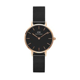 Wholesale Womens Christmas Watch - 2017 New dw watches Women 32mm Daniel Wellington stainless steel watch rose gold fashion watch bracelet quartz wristwatch womens
