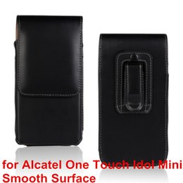 Wholesale Alcatel One Touch Mini Idol - High Quality PU Leather Mobile Phone Case Belt Clip Pouch Cover Case For Alcatel One Touch Idol Mini 6012X 6012A 6012W
