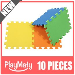 Wholesale Kids Soft Play Mats - Water proof solid color soft foam material tatami mat for kid play mat infant tatami mat in living room floor mat crawling 10pcs