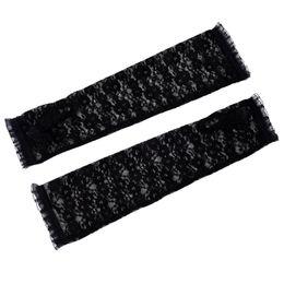al por mayor guantes de longitud de codo Rebajas Al por mayor-Nuevas mujeres de la moda Fingerless Arm Warmer Codo Longitud Guantes de encaje Un tamaño
