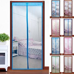 Wholesale Top Quality Sheer Curtains - Mosquito curtain quality screen door magnetic buckle magnetic stripe screen door window summer jacquard stripe