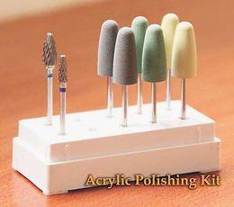 Wholesale Drill Based - Wholesale 8pcs HP Dental Resin Base Acrylic Polishing Burs Drill Polisher