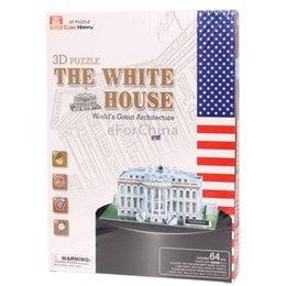 Wholesale 3d Puzzle Cards - Wholesale-3D Puzzle The White House Model Card Kit (64pcs)