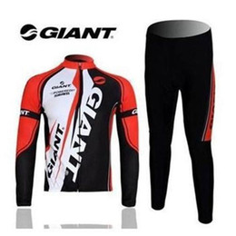 Wholesale Giant Cycling Pants - 2015 NEW GIANT cycling jersey Sport Cycling Bike suit Costume Long sleeve Jersey shirts+Long Pants cycling clothing Men quick dry