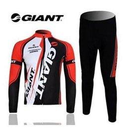 Wholesale Orange Sport Bike - 2015 NEW GIANT cycling jersey Sport Cycling Bike suit Costume Long sleeve Jersey shirts+Long Pants cycling clothing Men quick dry