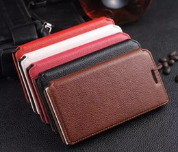 Wholesale Huawei P6 Pouch - For Huawei P6 P6S Case Flip Cover Stand Wallet Luxury Original Colorful Slim Cute Genuine Leather Case For Huawei Ascend P6 P6S