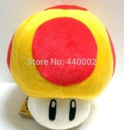 "Wholesale Super Mario Golden Mushroom Plush - Golden mushroom plush Super Mario Mushrooms Stuffed Dolls Plush Toys 8"" inch"