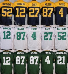 Wholesale Aaron Rodgers Jersey Football - Mens 21 Clinton-Dix packer 87 Jordy Nelson 27 Eddie Lacy 12 Aaron Rodgers 52 Clay Matthews 100% Stitched Jerseys Green Free Shipping