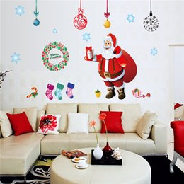 Wholesale Tree Window Art Decals - Card Paper Wall Decals Colourful Christmas Tree Xmas sticker wall Decal Removable Windows Wall Stickers Christmas Wall Stickers