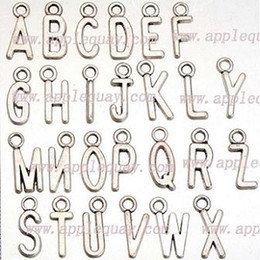 Wholesale Antique Letters - alphabet charms for jewelry necklaces braceles mix antique silver metal full letters capital new diy fashion jewelry accessories 16mm 260pcs