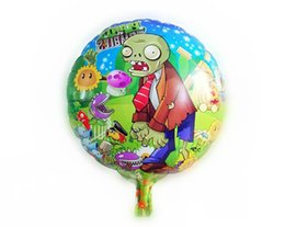 Wholesale Plants Vs Zombies Party - plants vs. zombies decorations ,children's party balloon, Crazy Zombies round children's toys cute cartoon balloons for birthday party decor