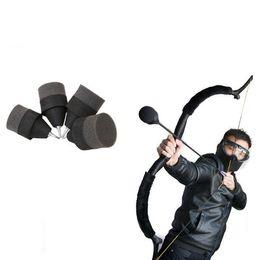 Wholesale Broadhead Tips - Black Soft Sponge Foam Hunting Arrowhead Game Practice Broadhead Tips For Archery Sports Club CS Shooting