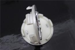 Cappelli centrali 68mm online-Copri mozzo 4 pezzi Copri mozzo ruota 68mm Copri mozzo argento Logo auto Tappo centrale decorativo per Honda Accord Civic CRV Odyssey
