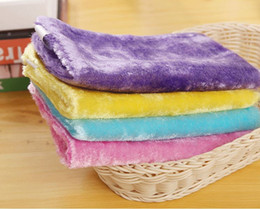 Wholesale Cleaning Magic Stick - Magic Wooden Fiber Cleaning Cloth With Shiny Threads Easy Wipe The Oil Without Detergent Soft Rag Oilproof Non Stick Oil 20*23cm