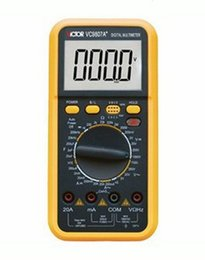 Wholesale Large Screen Multimeter - F04978 High Precision VICTOR VC9807A+ 4 1 2 Digital Multimeter Large LCD Screen AC DC Freq Tester Meter + Free shipping