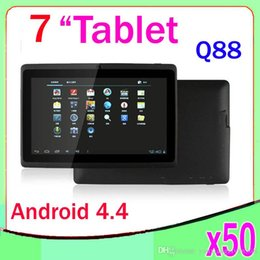 Wholesale Cheapest Wholesale Tablets - DHL 50pcs 7 inch dual core android tablet pc Q88 pro Allwinner A23 android 4.4 dual camera WIFI OTG capacitive screen cheapest ZY-MID-14
