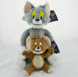 Wholesale Soft Toy Tom - Free shipping New Set 2 Pcs Tom and Jerry Soft Plush Toy Doll Cute With tag