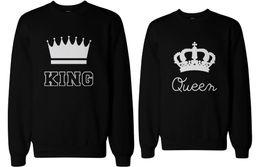 Wholesale Matching Sweatshirt - Wholesale-Cute Couple's Matching Sweatshirts - King and Queen Boyfriend and Girlfriend Sweatshirt Cotton Casual Euro Size XS-XXXL