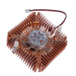 2019 ventilatore da 55 mm All'ingrosso-Nuovo arrivo 55mm Alluminio Snowhite Ventola di raffreddamento Dissipatore di calore Dissipatore di calore per PC CPU Scheda video VGA sconti ventilatore da 55 mm