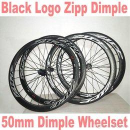 Wholesale Carbon Zipp - Fast Shipping White 50mm ZIPP dimple matte Black Carbon Fibre Clincher glossy matte Wheelset R36 hub A01