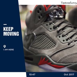 Wholesale Totem Gifts - Christmas Gifts(WithBox) AAA+ Quality air retro 5 5s Camo Men Basketball Shoes camouflage trophy room retro 5s Grey Red sports shoes Sneaker