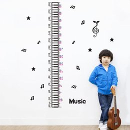 Wholesale Musical Wall Art Decor - musical note growth chart wall stickers kids classroom decor 1602. diy home decals height measuring nursery art print poster 4.0