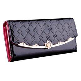 Wholesale Passport Wallet Women - 2015 Fashion Women Clutch Long Purse Leather Wallet Card Holder Handbag Bags passport holders portefeuille femme Free Shipping