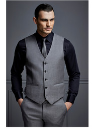 Wholesale Blue Silk Vest - Classic Groom Vests Three Colors Groomsmens Best Man Vest Custom Made Size and Color Five Buttons Wedding Prom Dinner Waistcoat K241