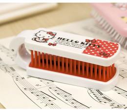 антистатические инструменты Скидка Hello kitty расческа для волос с зеркалом уход за волосами инструменты для укладки волос двухсторонняя удобная расческа пластиковые антистатические складные расчески для путешествий