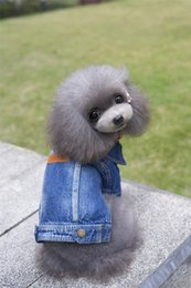 Wholesale New Coats Design For Boys - A39 dog spring autumn denim coat for 2 legs --For pet boys design pet clothing pet dog winter clothes