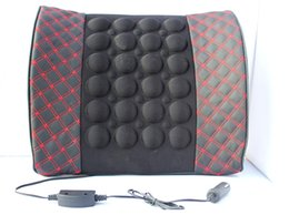 Wholesale Leather Car Cushions - Wine massage lumbar pillow. Car power lumbar massage   lumbar pad. Microfiber leather upholstery 41-1A \ 481