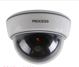 Wholesale Dummy Cctv Camera - 2015 New Dummy Fake Surveillance CCTV Security Dome Camera OutdoorFlashing Red LED Light
