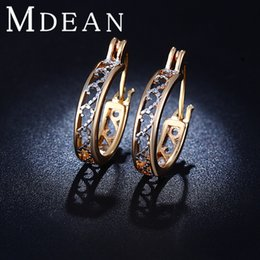 Wholesale Wedding Earings - New style 18K Gold Plated earring Exquisite Wedding Jewelry earings Earrings For Women Free Shipping ME029