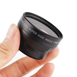Wholesale Iphone Lens Set - Wholesale-Professional HD 0.45x Super Wide Angle Lens+12.5x Super Macro Camera Smartphone Lens Set For Samsung S6 S5 S4 S3 For iPhone 6 5S