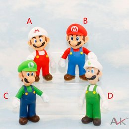 Wholesale Donkey Kong Figures - EMS Free 4 style Children Super Mario toys 2015 new PVC Super Mario and Luigi donkey kong Action Figures mario B